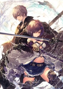 Rating: Safe Score: 30 Tags: armor cleavage garter sword tachikawa_mushimaro thighhighs User: Mr_GT