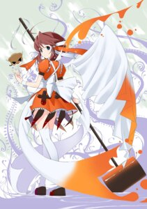 Rating: Safe Score: 11 Tags: achunchun greenwood mikan thighhighs User: fireattack