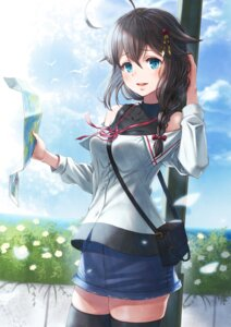 Rating: Safe Score: 23 Tags: kantai_collection shigure_(kancolle) sho_(sumika) thighhighs User: Mr_GT