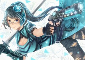 Rating: Safe Score: 23 Tags: armor cleavage gun headphones megane pixiv-tan sakimori sword User: mash