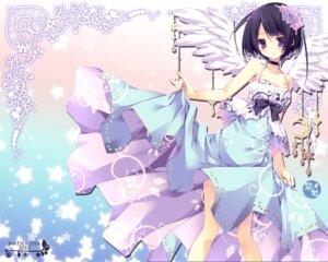Rating: Questionable Score: 55 Tags: dress nanaroba_hana wallpaper wings User: blooregardo