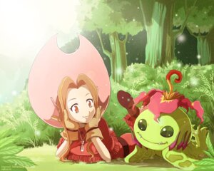 Rating: Safe Score: 19 Tags: ceal-sakura-ai digimon dress monster palmon tachikawa_mimi User: charunetra