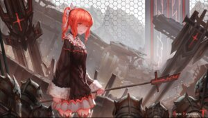 Rating: Safe Score: 40 Tags: armor dress pixiv_fantasia pixiv_fantasia_t sword thighhighs weapon zxq User: Noodoll