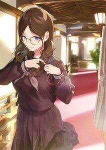 Rating: Questionable Score: 89 Tags: megane sasamori_tomoe seifuku User: Twinsenzw