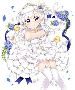 Rating: Safe Score: 20 Tags: azur_lane bel-chan_(azur_lane) belfast_(azur_lane) dress kanjitomiko stockings thighhighs wedding_dress User: Mr_GT