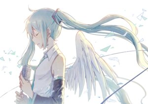 Rating: Safe Score: 31 Tags: hatsune_miku mimengfeixue vocaloid wings User: charunetra
