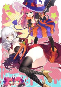 Rating: Safe Score: 40 Tags: ass carmilla_(fate/grand_order) chibi fate/grand_order horns kirie lancer_(fate/extra_ccc) tail thighhighs wings User: nphuongsun93