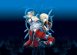 Rating: Safe Score: 5 Tags: blazblue heterochromia kisaragi_jin noel_vermillion ragna_the_bloodedge User: steden765