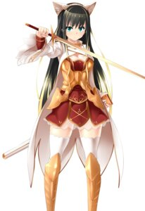 Rating: Safe Score: 61 Tags: armor cleavage orochi_itto see_through sword thighhighs User: KazukiNanako