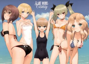 Rating: Questionable Score: 72 Tags: anchovy ass bikini breast_hold cleavage darjeeling erect_nipples girls_und_panzer katyusha kay_(girls_und_panzer) nishizumi_maho school_swimsuit swimsuits tony_taka underboob undressing User: Fanla