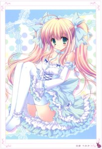 Rating: Questionable Score: 57 Tags: dress hasekura_chiaki lolita_fashion pantsu thighhighs User: crim