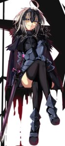 Rating: Safe Score: 36 Tags: armor fate/grand_order jeanne_alter sword tagme thighhighs User: fairyren