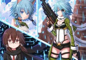 Rating: Safe Score: 29 Tags: animal_ears cleavage gun gun_gale_online kazenokaze megane shino_asada sinon sword_art_online User: sylver650