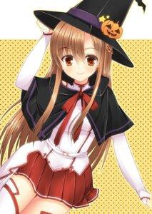 Rating: Safe Score: 20 Tags: asuna_(sword_art_online) halloween mukai_kiyoharu sword_art_online thighhighs witch User: 椎名深夏