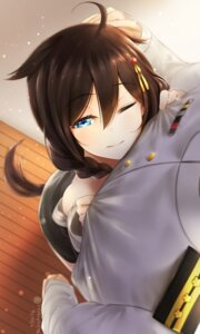 Rating: Safe Score: 41 Tags: admiral_(kancolle) kantai_collection nekodayo22 shigure_(kancolle) tail uniform User: Mr_GT