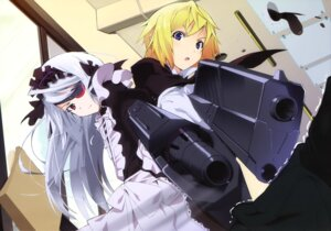 Rating: Safe Score: 61 Tags: charlotte_dunois eyepatch gun infinite_stratos laura_bodewig maid okiura User: blooregardo
