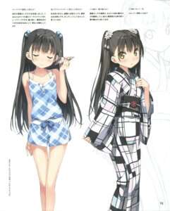 Rating: Safe Score: 52 Tags: character_design kantoku monochrome nagisa_(kantoku) text yukata User: Twinsenzw