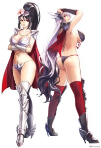 Rating: Questionable Score: 31 Tags: aken armor ass bikini_armor cleavage heels no_bra thighhighs User: charunetra