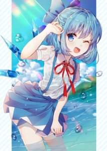 Rating: Safe Score: 42 Tags: bra cirno kawachi_rin see_through touhou wet wet_clothes wings User: sym455