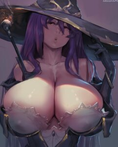 Rating: Questionable Score: 44 Tags: cleavage goblin_slayer no_bra robutts witch witch_(goblin_slayer) User: geb