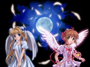 Rating: Safe Score: 14 Tags: air card_captor_sakura crossover kamio_misuzu kinomoto_sakura moonknives wallpaper User: bluestorm