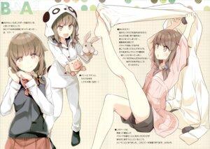 Rating: Safe Score: 35 Tags: azusagawa_kaede breast_hold feet mizoguchi_keiji ntype pajama seifuku seishun_buta_yarou_series sweater User: kiyoe