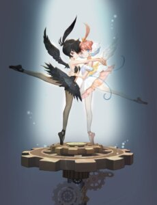 Rating: Safe Score: 27 Tags: ahiru dress hong_yun_ji pantyhose princess_tutu rue_(princess_tutu) wings User: blooregardo