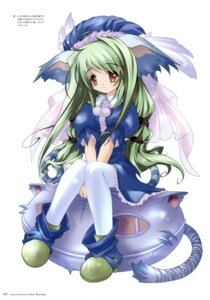 Rating: Safe Score: 13 Tags: animal_ears dress fujiwara_warawara tail thighhighs User: crim