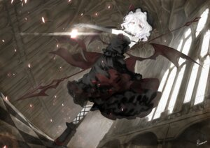 Rating: Safe Score: 79 Tags: alongriver dress gothic_lolita lolita_fashion remilia_scarlet touhou wings User: Mr_GT
