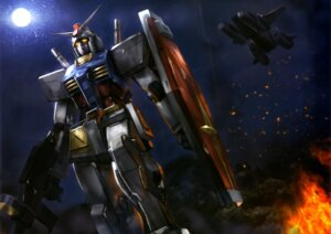 Rating: Safe Score: 20 Tags: gun gundam landscape mecha mobile_suit_gundam rx-78-2_gundam sword weapon User: drop