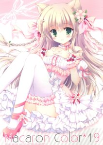 Rating: Questionable Score: 18 Tags: breast_hold cascade dress hasekura_chiaki heels thighhighs User: Radioactive