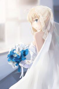 Rating: Safe Score: 57 Tags: dress fate/stay_night fate/stay_night_unlimited_blade_works fate/zero magicians saber wedding_dress User: sylver650