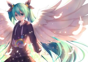 Rating: Safe Score: 46 Tags: akabane_(pixiv3586989) hatsune_miku vocaloid wings User: zero|fade
