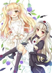 Rating: Safe Score: 39 Tags: asa_(swallowtail) dress eyepatch gothic_lolita kirakishou lolita_fashion rozen_maiden suigintou thighhighs User: blooregardo