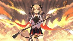 Rating: Safe Score: 35 Tags: arknights dress garter gun horns ifrit_(arknights) tttanggvl User: Mr_GT