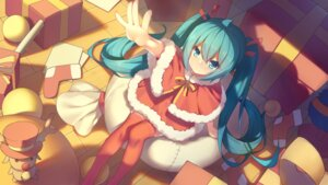 Rating: Safe Score: 41 Tags: akabane_(pixiv3586989) christmas dress hatsune_miku thighhighs vocaloid User: Mr_GT