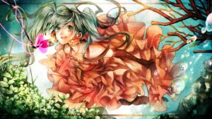 Rating: Safe Score: 13 Tags: dress hana_(yui) hatsune_miku pantyhose vocaloid wallpaper User: Radioactive
