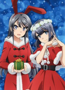 Rating: Safe Score: 31 Tags: animal_ears bunny_ears christmas dress makinohara_shouko sakurajima_mai seishun_buta_yarou_series tamura_satomi User: Naiko99