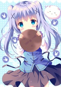 Rating: Safe Score: 42 Tags: gochuumon_wa_usagi_desu_ka? hazakura_satsuki kafuu_chino tippy_(gochuumon_wa_usagi_desu_ka?) waitress User: Mr_GT