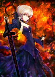 Rating: Questionable Score: 29 Tags: cleavage dress fate/grand_order fate/stay_night kaze_minoru_so-ru open_shirt saber saber_alter sword User: mash
