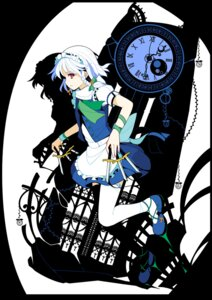 Rating: Safe Score: 31 Tags: ideolo izayoi_sakuya maid thighhighs touhou User: Mr_GT
