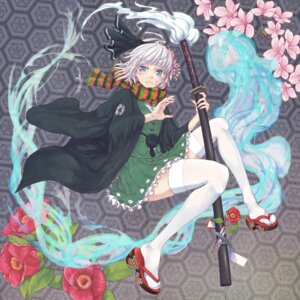 Rating: Safe Score: 17 Tags: konpaku_youmu mumulatte sword thighhighs touhou User: Mr_GT