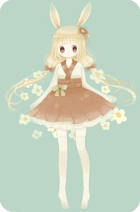 Rating: Safe Score: 18 Tags: animal_ears bunny_ears roromi thighhighs User: Radioactive