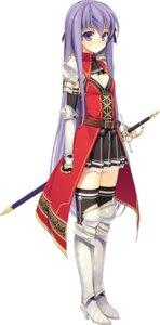 Rating: Safe Score: 40 Tags: armor cleavage effordom_soft fujimori_yuu heels koikishi_purely_kiss sword thighhighs uniform yuuki_hagure User: Fanla
