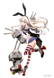 Rating: Questionable Score: 67 Tags: ass heels kantai_collection rensouhou-chan shimakaze_(kancolle) thighhighs thong User: drop