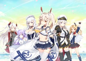 Rating: Questionable Score: 27 Tags: ayanami_(azur_lane) azur_lane belfast_(azur_lane) cleavage cleveland_(azur_lane) dress enterprise_(azur_lane) horns maid maya_g no_bra prinz_eugen_(azur_lane) seifuku shirt_lift summer_dress thighhighs underboob unicorn_(azur_lane) uniform User: Mr_GT