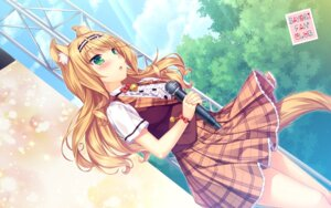 Rating: Safe Score: 50 Tags: animal_ears maple_(neko_para) neko_para neko_works nekomimi sayori tail wallpaper User: Mr_GT