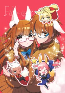 Rating: Safe Score: 15 Tags: animal_ears archer caster_(fate/extra) chibi fate/extra fate/stay_night female_protagonist_(fate/extra) japanese_clothes kishinami_hakuno kitsune male_protagonist_(fate/extra) megane routo saber_(fate/extra) seifuku thighhighs User: JediJaina