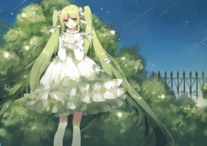 Rating: Safe Score: 25 Tags: ch3coooh dress elf hatsune_miku pointy_ears vocaloid User: Humanpinka