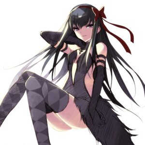 Rating: Questionable Score: 19 Tags: akemi_homura dress misteor no_bra nopan puella_magi_madoka_magica thighhighs User: charunetra